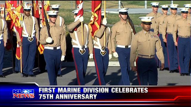 First Marine Division celebrates 75th anniversary