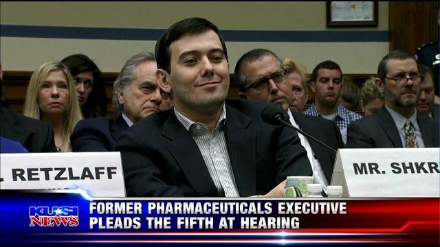 Former pharmaceuticals executive pleads the fifth at hearing