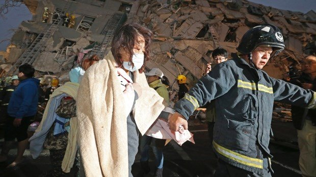 Taiwan is devastated by massive 6.4 magnitude earthquake