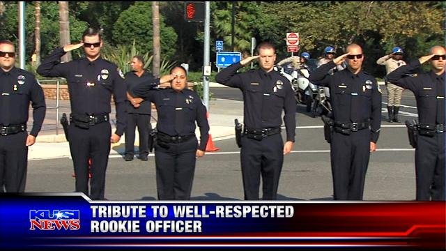 Tribute to well-respected Escondido rookie officer - KUSI News ...
