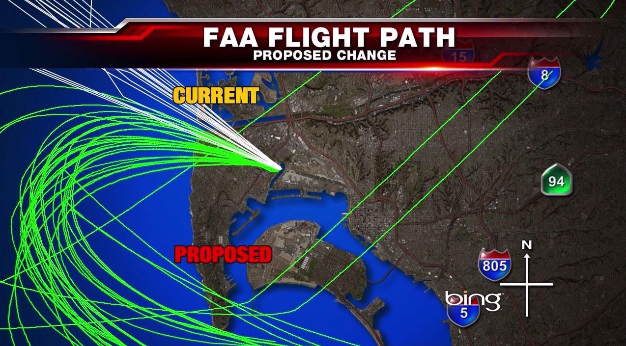 FAA Flight Path Changes KUSI News San Diego CA - Us commercial flight path map