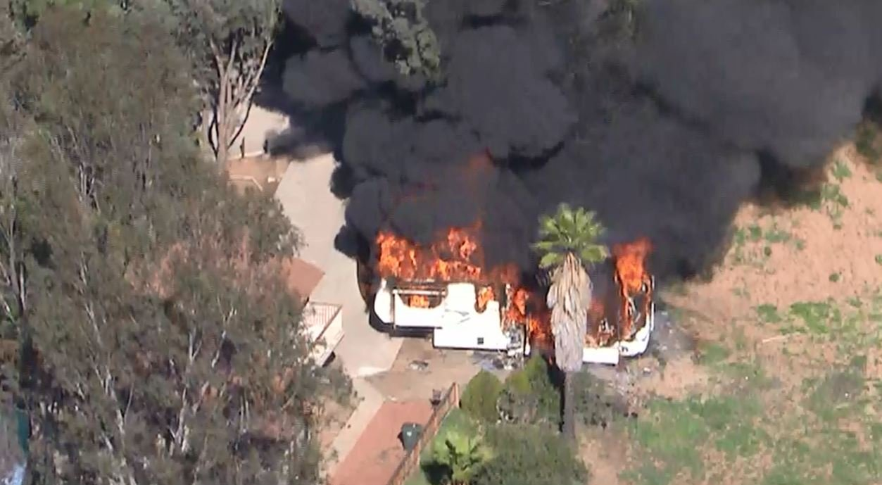 fire guts trailer outside of el cajon home news san diego ca